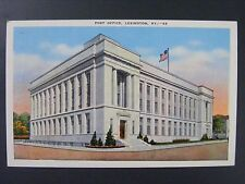 Lexington Kentucky Post Office Building Vintage Color Linen Postcard 1945