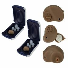 A pair mall In The Ear Invisible Best Sound Amplifier Adjustable Hearing Aid FAI