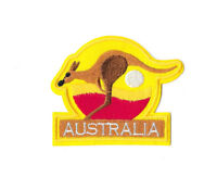 AUSTRALIA KANGAROO Iron on / Sew on Patch Embroidered Badge Motif Souvenir PT348