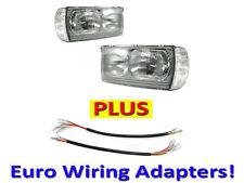 DEPO 77-85 Mercedes Benz W123 Euro Glass Headlight+Corner+Wiring Adapter Pair