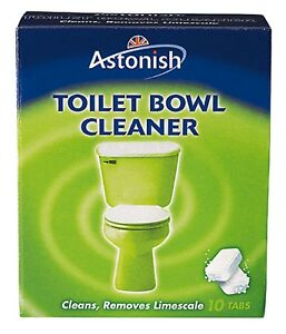 Astonish Toilet Bowl Cleaner Tablets 10 Tabs Limescale Remover Fresh Deodorises