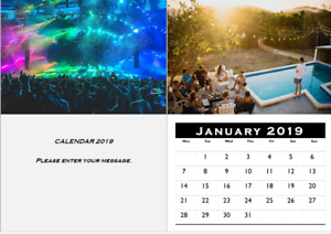 A3 Bespoke 2021 Wall Calendar with your photos, great gift
