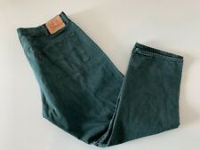 VTG Levi's 501 Button Fly Green Jeans Men's 42x30