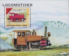 Afghanistan block 108 unmounted mint / never hinged 1999 Locomotives