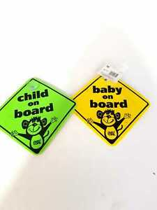 CHILD ON BOARD CAR WINDOW CHILD SAFETY SIGN FOAM CONSTRUCTION WITH SUCTION CUP