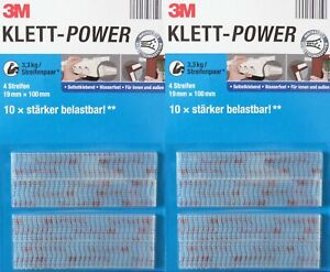 3M Klett Power Klebepads Klettband Klettstreifen Powerstips EXTRA STARK ULTRA OM