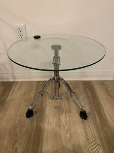 """Snare Drum Table.  Side Table Adjustable  Height Up to 24"""".  Sold Out Rare."""