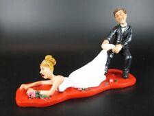 Funny Figurine Wedding Wedding, Groom Bride ,7 1/2in, New