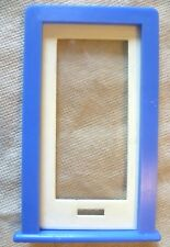 Vintage Dolls House DIY - Caroline's Home Full Plain Glazed Door & Blue Frame #1