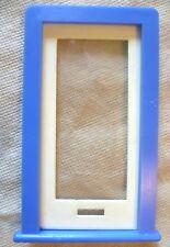 Vintage Casa De Muñecas hágalo usted mismo-Caroline 's Home Completo Llano Esmaltado puerta y marco Azul #2