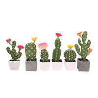 Plastic Fake Artificial Succulent Potted Plant Garden Desert Cactus Prickly