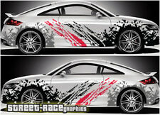 AUDI TT RALLY 001 RACING FANGO SPLATTER Grunge grafica Adesivi Decalcomanie