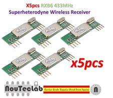 5pcs RXB6 433MHz Superheterodyne Wireless Receiver Module
