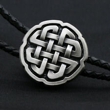 New Artical Heart Silver Plate Western Cowboy Celtic knot Bolo Tie Mens Fashion