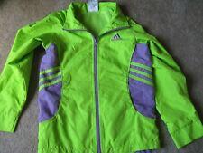 Girl's Adidas polyester lightweight windbreaker jacket size 6