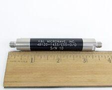 Kampl Microwave 4b120 1433e55 00 Tubular Bandpass Filter Sma Female Connector