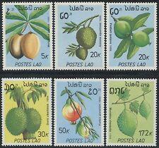 LAOS N°931/936** Fruits TB, 1989 MNH