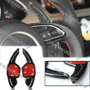 For Audi RS6 A4L A6L Steering Wheel Shift Paddle Shifter Extension Carbon Fiber