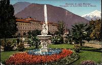 Merano Meran Color AK 1924 frankiert Passegiata col Grand Hotel Corte di Merano