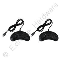 2 x Megadrive Style USB Game Pad Controller Joypad for PC Android Pi Emulation
