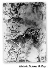 GERMANS BOMB KENLEY AIRFIELD SURREY 1940 AERIAL VIEW VINTAGE MOUNTED WAR PRINT