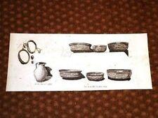 Scavi a Pompei del 1882 - Vasi e scodelle in Terracotta