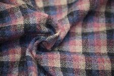 Gray/Blue/Pink/Tan Shetland Wool Box Plaid