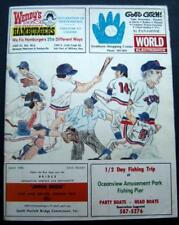 RARE July 22,1976 NY METS vs Tidewater TIDES Baseball Score Card EXHIBITION GAME