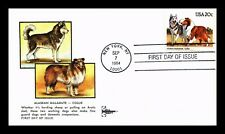 Us Cover Alaskan Malamute And Collie Dogs Fdc Gill Craft Cachet