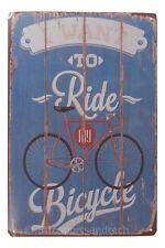 Ride Bicycle Bike Tin Sign Bar Cafe Diner Garage Wall Decor Retro Metal Vintage