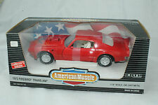ERTL AMERICAN MUSCLE 1973 PONTIAC FIREBIRD TRANS AM, RED, 1:18, NEW IN BOX