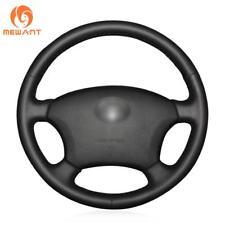 Black Leather Steering Wheel Cover for Old Toyota Land Cruiser Prado 120/ Lexus