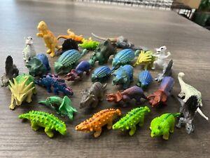 Vintage Dinosaurs Lot of 27 Mini Figures Rubber/ Plastic Collectible!!! LOT 2