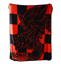 **Legit** Sonic the Hedgehog Shadow Black Authentic Throw Blanket #57044