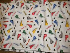 Baum Textile #23077 High Top Sneakers All Sports Cotton Flannel Fabric 3 yards