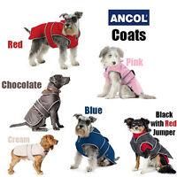 Ancol Padded Luxury Dog Coat All Weather Non Slip Raincoat All Sizes