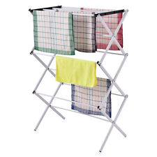 Foldable Clothes Storage Drying Rack Portable Metal Laundry Hanger Towel Rack