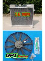 56mm custom aluminum radiator +FAN for ALFA ROMEO GT 1972-1977 73 74 Manual