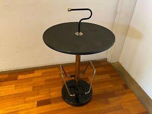Vintage Coffee Side Table Mid Century Space Age Design Metal Retro Magazine Rack