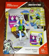 NIP Mega Construx 68pc Monster High: FRIGHT ROAST CAFE with FRANKIE STEIN!