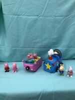 Peppa Pig Lot Of 2 Cars And 6 Figures