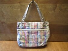 Coach Poppy Madras Shoulder Bag 19611
