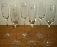 "6 Eisch Crystal Glaskultur 10 7/8"" Champagne Flute Glasses Glasmanufaktur German"