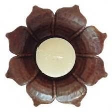 Copper Lotus Tealight Holder - Handmade in Nepal - Fair Trade
