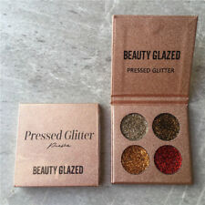 Diamond Glitter Eyeshadow Palette 4 Colors Set Shining Highlighter Makeup Beauty 2#