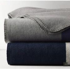 Restoration Hardware Academy Stripe Cotton-Wool Blanket-Twin, Oeko-Tex Certified