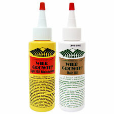 Wild Growth Set :Hair Oil 4 oz +Light Oil Moisturizer 4 oz~Hair Growth & Repair.