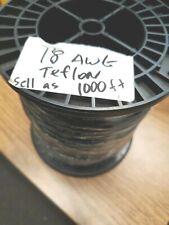 18 Awg Gauge Teflon Silv Plated 19 Strand Wire Black 1000 Ft 06 Odtfe 200 C