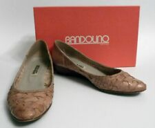 Bandolino Firenze Calf Women's Tan Leather Weave Secretary Shoes Size 8M Vintage