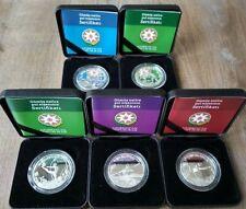 Azerbaijan 5 manat 2015 Silver Coins Set Baku First European Games Sports PROOF